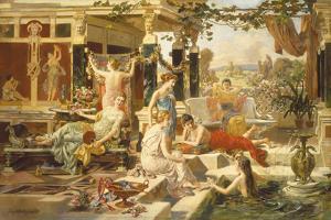 The Roman Bath by Emmanuel Oberhausen