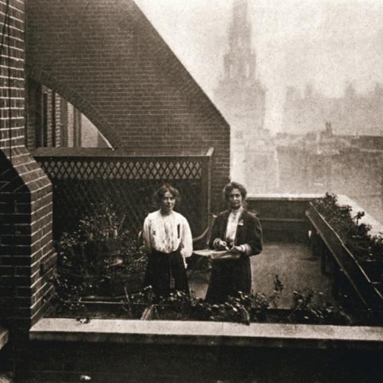 Emmeline and Christabel Pankhurst, British suffragettes, London, 12 October 1908-Unknown-Photographic Print