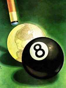 """World as Cue Ball,"" January 25, 1941 by Emmett Watson"