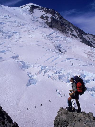 Emmons Glacier on Mt. Rainier, Washington-Cheyenne Rouse-Photographic Print