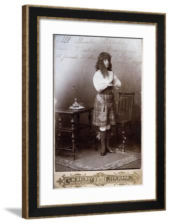 Emmy Muyt in Role of Willie, Character in Ratcliff, Opera by Pietro Mascagni--Framed Giclee Print