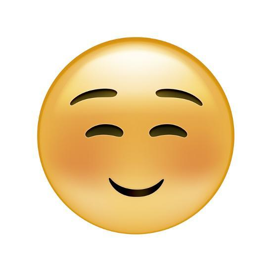 Emoji Squint Small Smile-Ali Lynne-Giclee Print