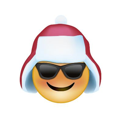 Emoji Sun Glasses Trapper hat-Ali Lynne-Giclee Print