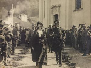Emperor Charles of Austria and King of Hungary and Zita of Bourbon During the Austrian Occupation