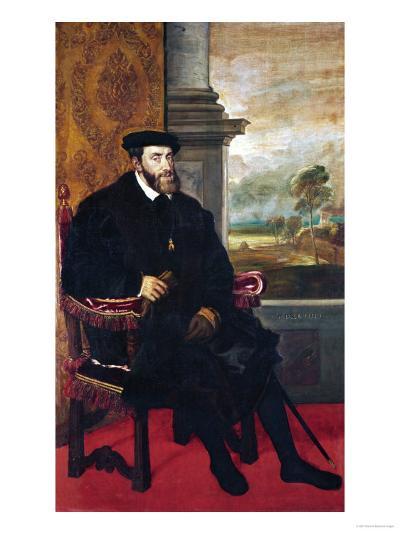 Emperor Charles V (Karl V), 1548-Titian (Tiziano Vecelli)-Giclee Print