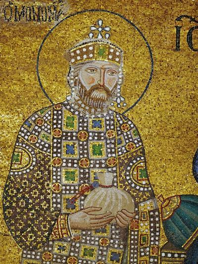 Emperor Constantine IX Monomachos (1042-1054) Holding the Money-Bag with the Church's Endowment--Giclee Print