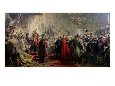 Emperor Franz Joseph I and Empress Elizabeth in Budapest, 8th July 1896-Gyula Benczur-Giclee Print