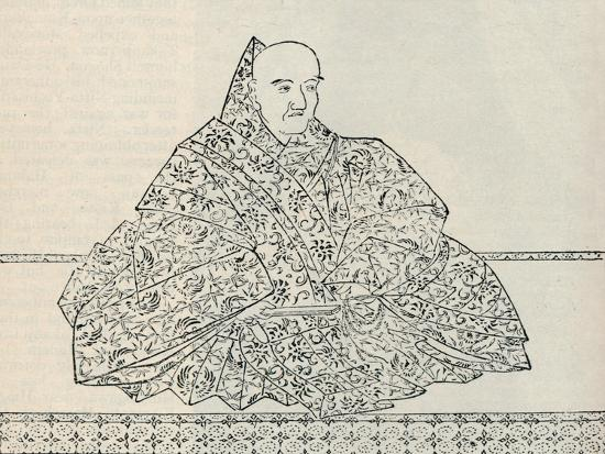 Emperor Go-Uda of Japan, in whose reign the Mongol Armada was destroyed, 1907-Unknown-Giclee Print