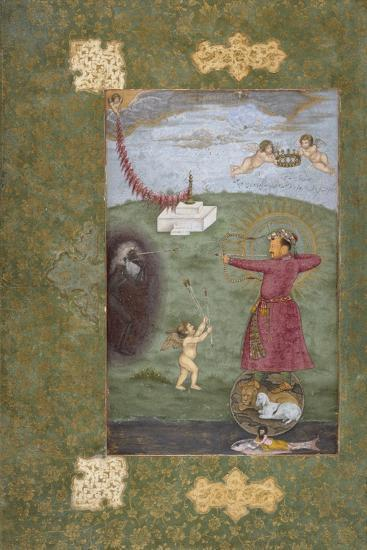 Emperor Jahangir Triumphing over Poverty--Art Print