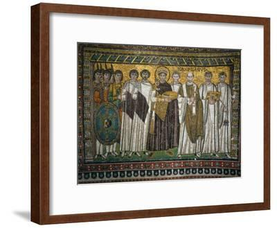 Emperor Justinian, 483-565, and His Court