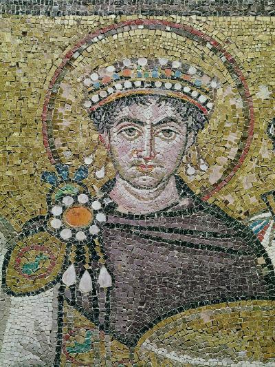 Emperor Justinian I (483-565) circa 547 AD--Giclee Print