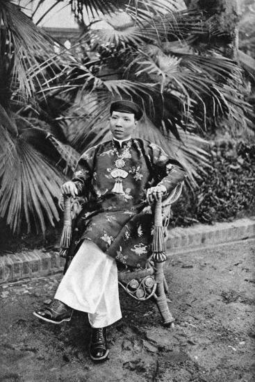 Emperor Khai Dinh (1885-192), 12th Emperor of the Nguyen Dynasty, Annam, Vietnam, 1922--Giclee Print