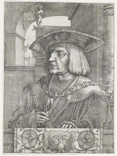 Emperor Maximilian I, 1520-Lucas van Leyden-Giclee Print