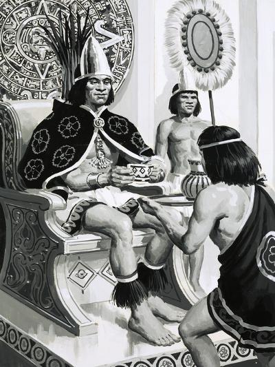 Emperor Montezuma of the Aztecs Liked Drinking Cocoa--Giclee Print