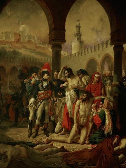 Emperor Napoleon I Bonaparte Visiting the Plague-Stricken in Jaffa-Antoine-Jean Gros-Giclee Print