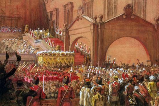 Emperor Nicholas II on the Red Porch after His Coronation, 1896-Albert Gustaf Aristides Edelfelt-Giclee Print