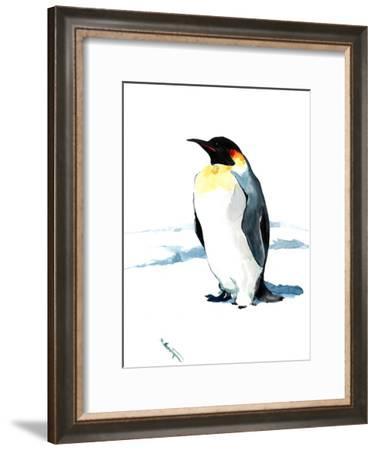 Emperor Penguin 3-Suren Nersisyan-Framed Art Print