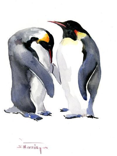 Emperor Penguins-Suren Nersisyan-Art Print