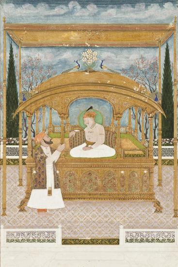Emperor Shah Alam II on the Peacock Throne, 1801-Musawir Khairullah-Giclee Print