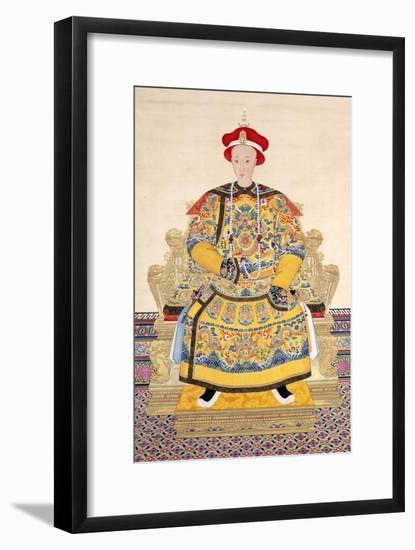 Emperor Tongzhi (1856 - 1875), His Temple Name was Muzong-Chinese School-Framed Giclee Print