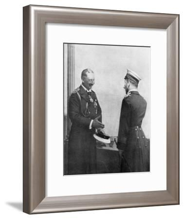Emperor Welhelm II of Germany Greeting Tsar Nicholas II of Russia before the First World War--Framed Giclee Print
