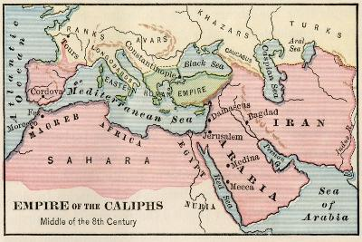 Empire of the Arab Caliphs, Middle of the 8th Century--Giclee Print