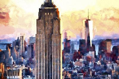 Empire State & 1 World Trade-Philippe Hugonnard-Giclee Print