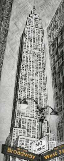 Empire State Bldg-L^ Cartier-Art Print