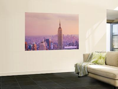Empire State Building and Manhattan Skyline-Jean-pierre Lescourret-Wall Mural
