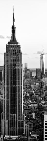 Empire State Building and One World Trade Center at Sunset, Midtown Manhattan, New York City-Philippe Hugonnard-Photographic Print
