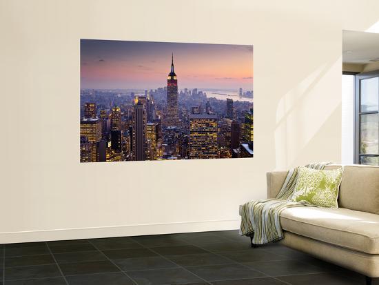 Empire State Building from Rockefeller Center at Dusk-Richard l'Anson-Giant Art Print