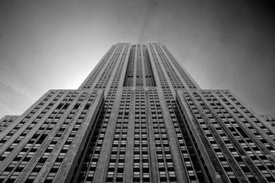 Empire State Building From Street B/W