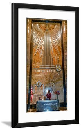 Empire State Building, New York City, New York, United States of America, North America-Karen Deakin-Framed Photographic Print