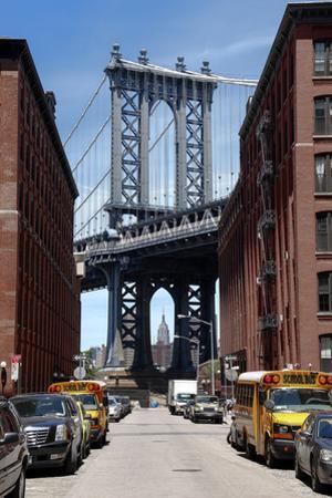 Empire State Building Underneath Brooklyn Bridge from DUMBO, Brooklyn