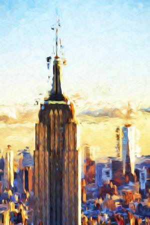 Empire State Sunset - In the Style of Oil Painting-Philippe Hugonnard-Giclee Print
