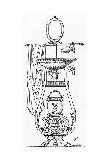 Empire Style Lavabo, Engraving after the Design of Charles Percier, 18th-19th Century--Giclee Print