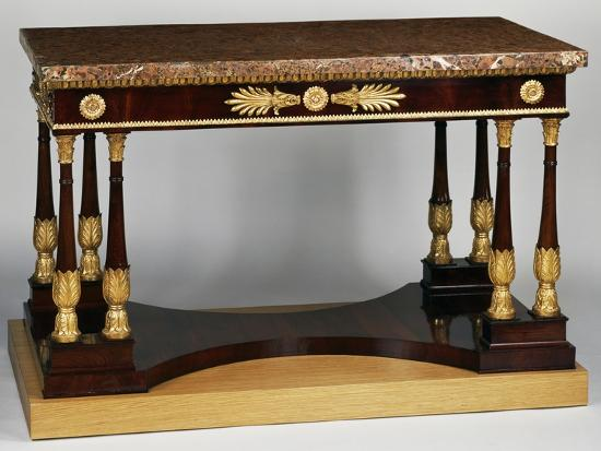 Empire Style Mahogany Centre Table with Veneer Finish--Giclee Print