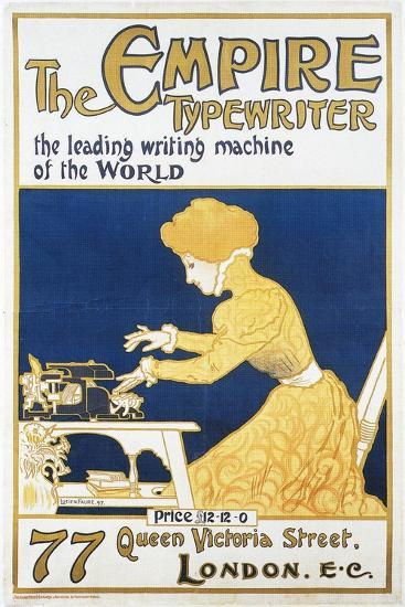 Empire Typewriter-Leading Machine In The World-Lucien Faure-Art Print