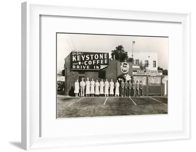 Employee Picture of Keystone Coffee Drive In--Framed Art Print