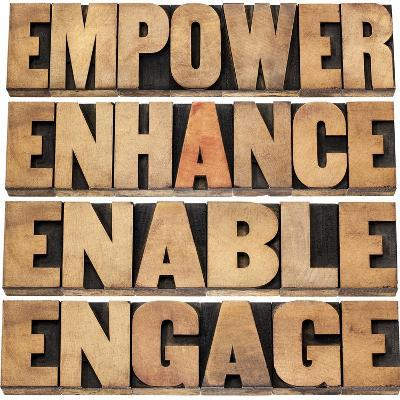 Empower, Enhance, Enable and Engage-PixelsAway-Art Print