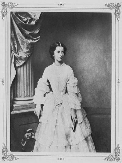 Empress Elisabeth of Austria, 1857-Franz Hanfstaengl-Giclee Print
