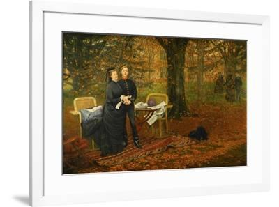 Empress Eugenie, died 1879 in a tragic incident during the campaign against the Zulus.-James Tissot-Framed Giclee Print
