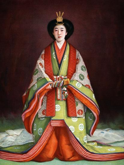 Empress Nagako of Japan in her coronation garments, c1924. Artist: Unknown-Unknown-Giclee Print