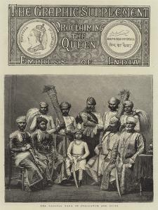 Empress of India, the Maharaj Rana of Jhallawur and Suite
