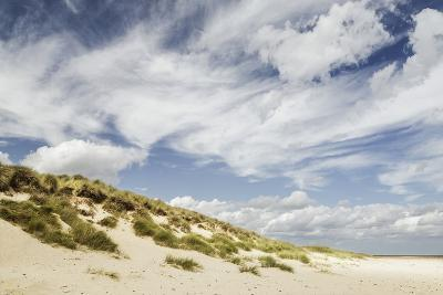 Empty Beach and Dunes with Big Cloudy Sky-Daniel Halpin Photography-Photographic Print