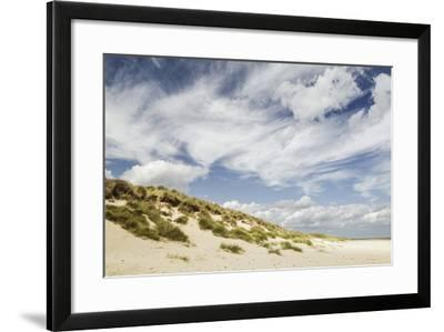 Empty Beach and Dunes with Big Cloudy Sky-Daniel Halpin Photography-Framed Photographic Print