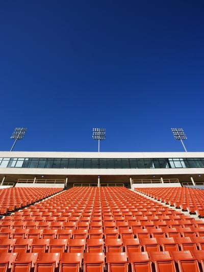 Empty Football Stadium Seats-Robert Michael-Photographic Print