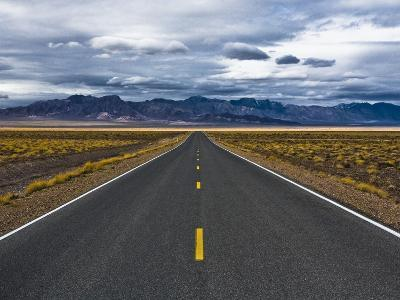 Empty Highway in Death Valley National Park-Rudy Sulgan-Photographic Print