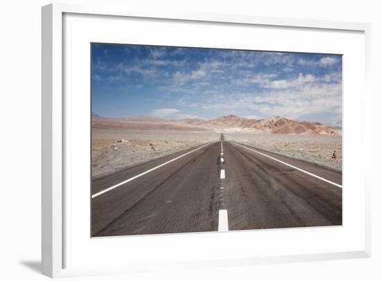 Empty Open Road, San Pedro De Atacama Desert, Chile, South America-Kimberly Walker-Framed Photographic Print