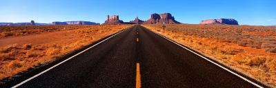 Empty Road, Clouds, Blue Sky, Monument Valley, Utah, USA--Photographic Print